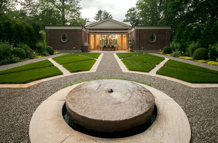 Millstones in the Garden, Thinking Outside the Boxwood, Janice Parker Landscape Design