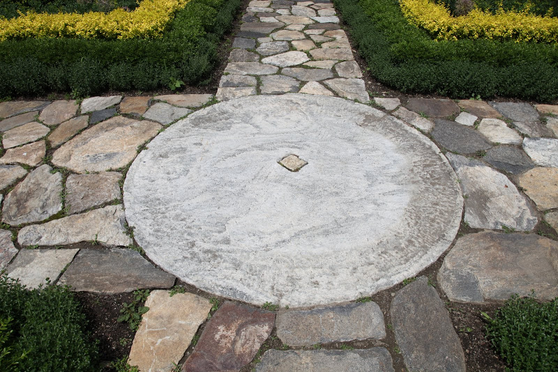 Millstones in the Garden, Thinking Outside the Boxwood, Martha Stewart's Bedford, CT Home