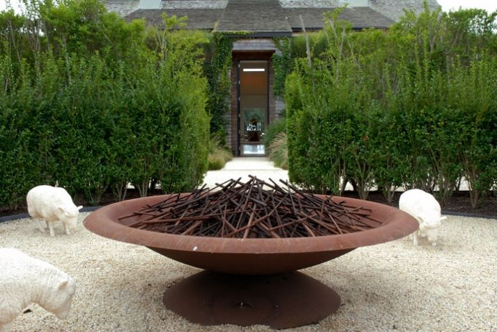 FOUND - Ina Garten's Firebowl, Thinking Outside the Boxwood