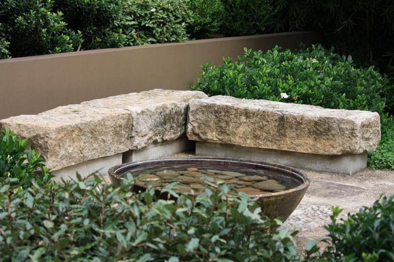 Granite Foundation Blocks : Using barn foundation stone in the landscape thinking