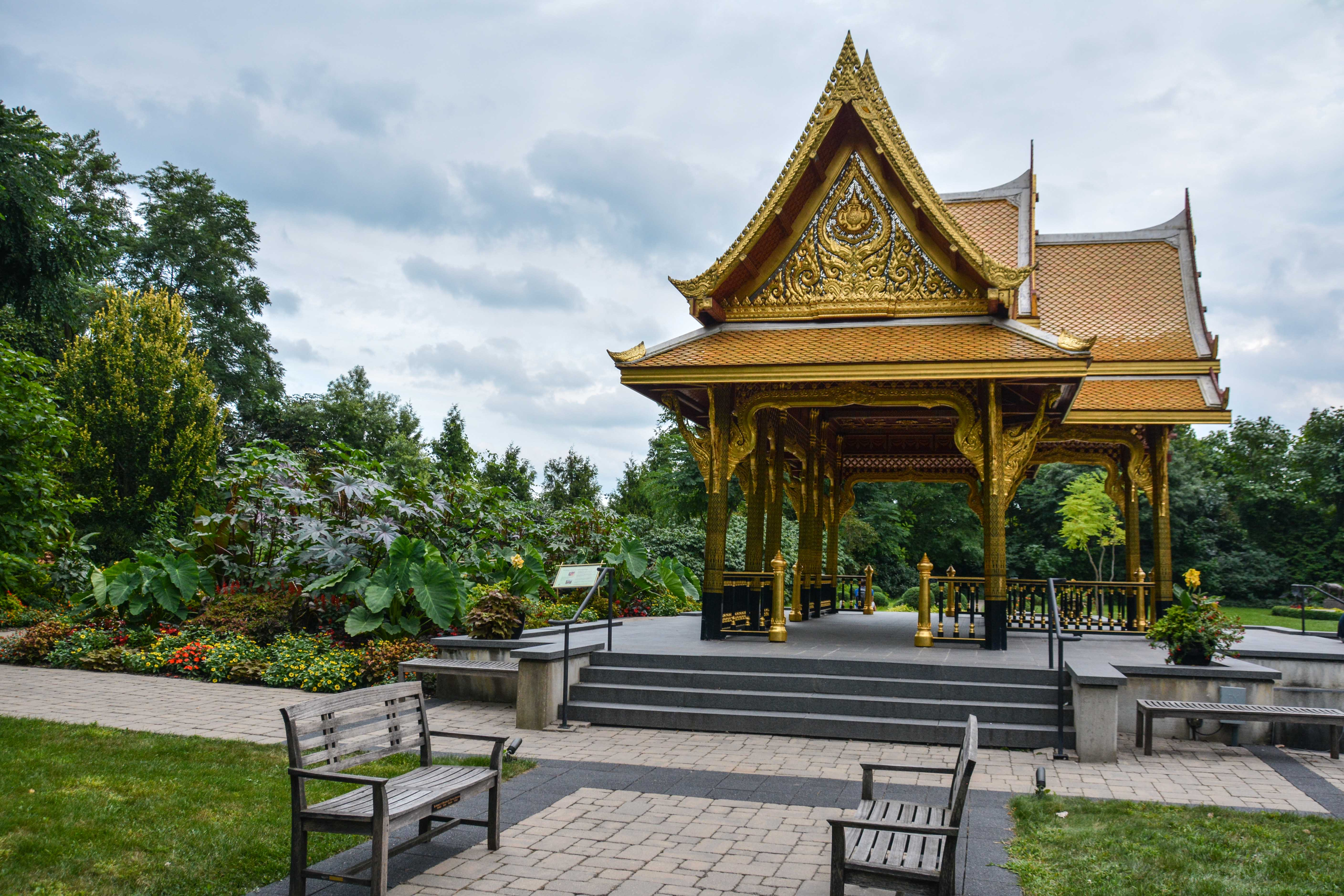 Olbrich Botanical Gardens, Thai Pavilion and Garden - Madison Wisconsin, Thinking Outside the Boxwood