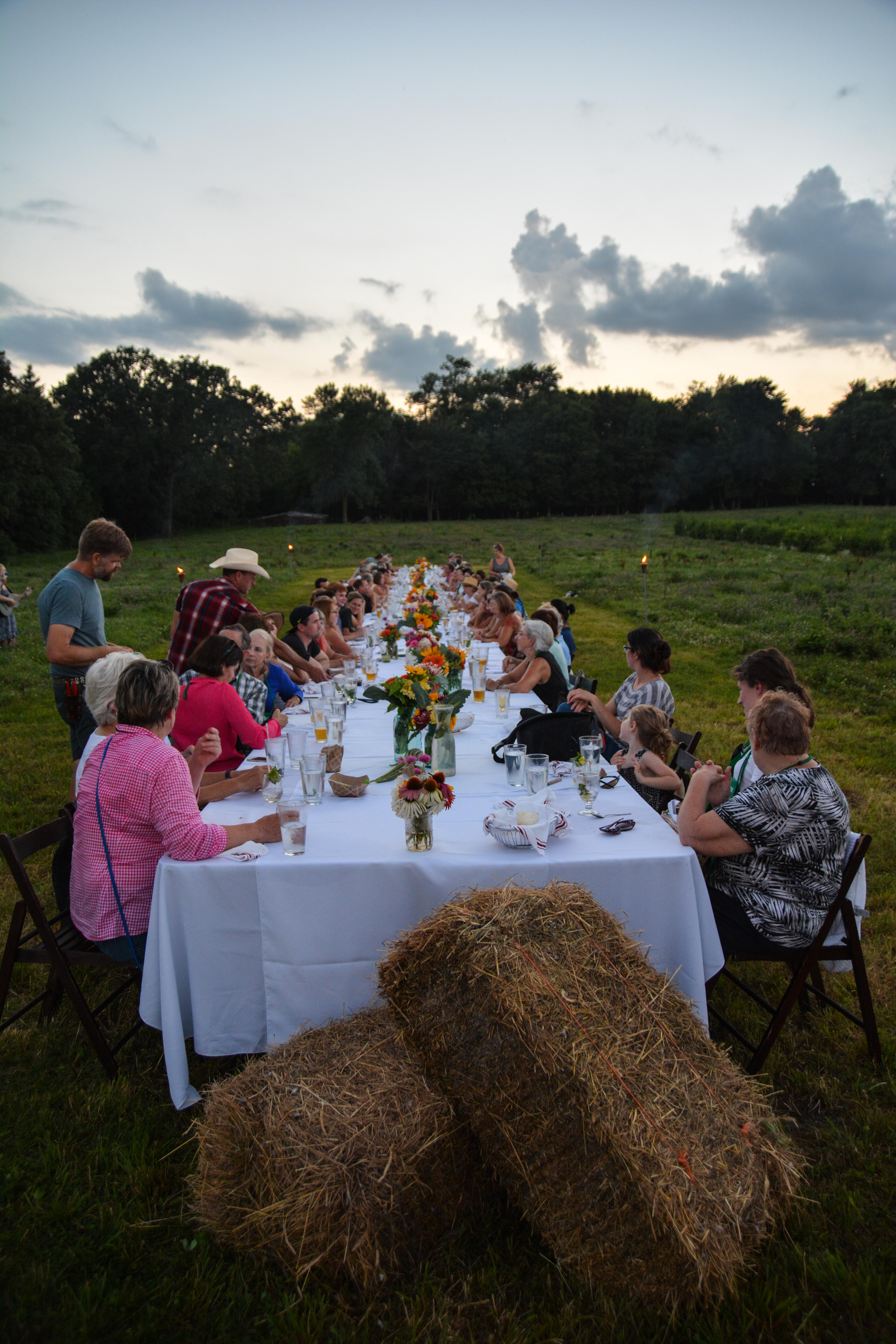 Field to Table PPA Dinner at Tangletown Gardens Farm, Minneapolis, MN - More images at Thinkingoutsidetheboxwood.com