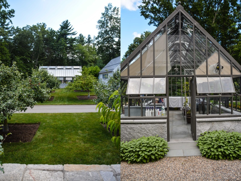 APLD Boston Conference Tours Recap. Modern Garden with eddibles, greenhouse and unique hardscapes. Thinking Outside the Boxwood